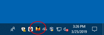 Folder Guard taskbar icon can be handy