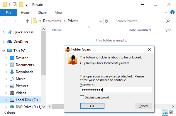 free software for protecting folders with password