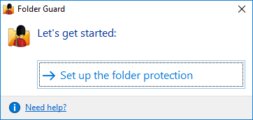 Set up folder protection with Folder Guard