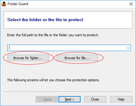 Select the folder that you want to make secret folder