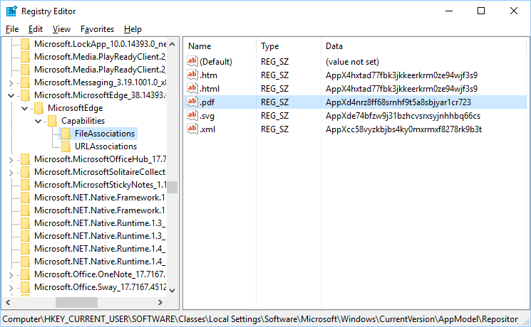Editing Registry with Registry Editor